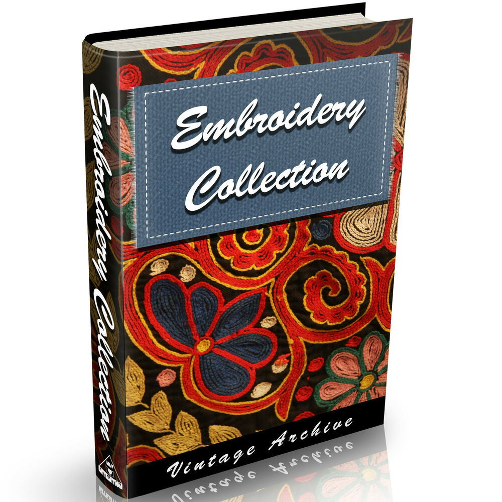 Embroidery books old on dvd needlework patterns