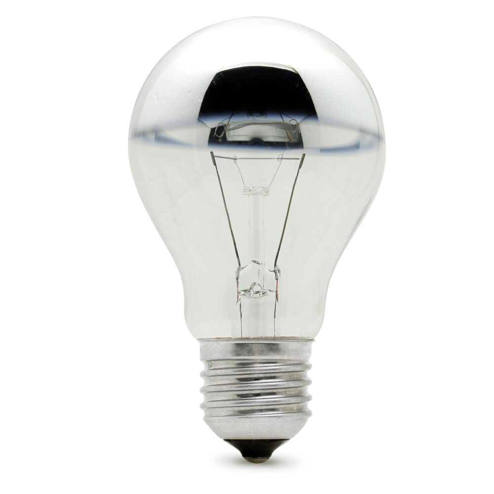 Lighting Bulb: GLS Crown Silver Mirror Top Reflector BELL Light Bulb Lamp