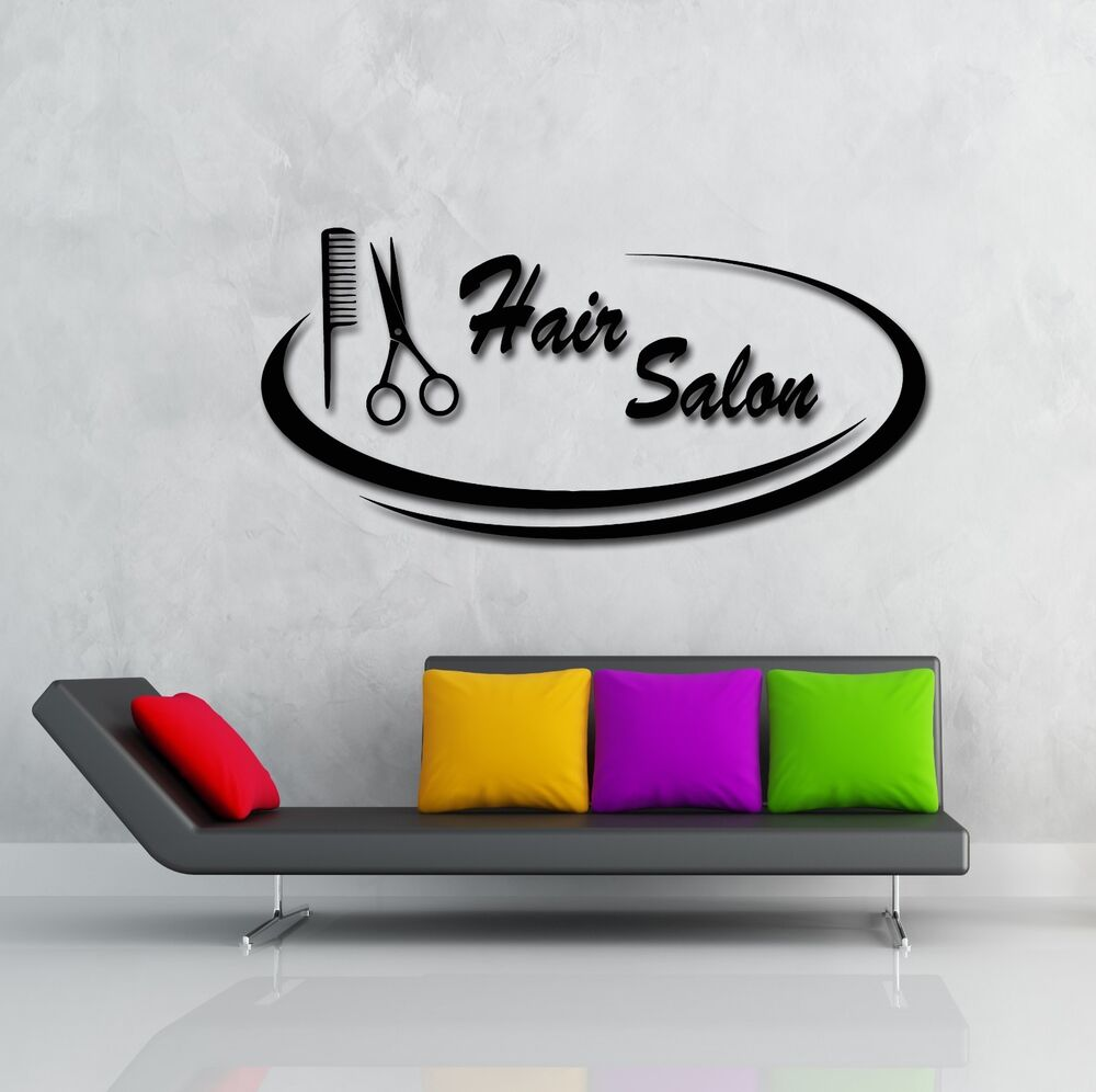 wall stickers vinyl decal hair salon barbershop beauty. Black Bedroom Furniture Sets. Home Design Ideas