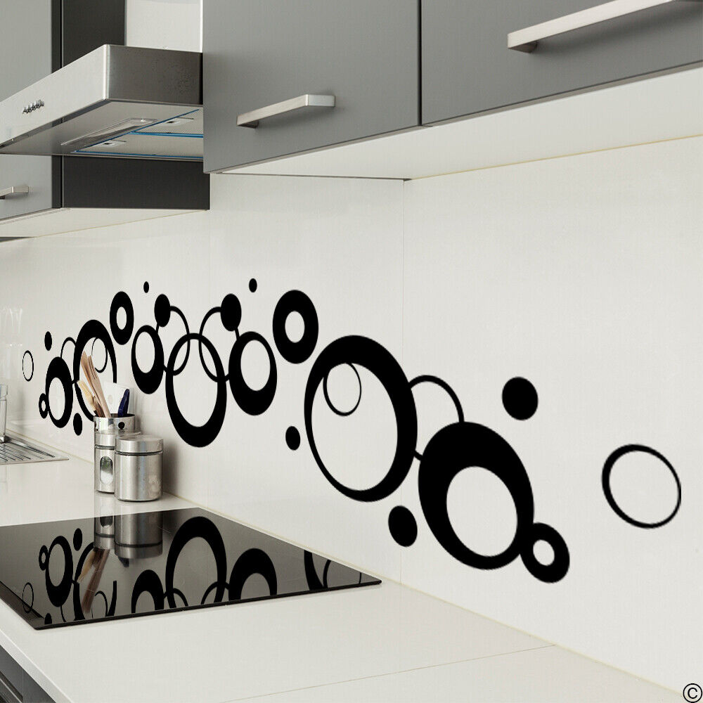 Art deco circles vinyl wall decal for home decor modern for W home decor