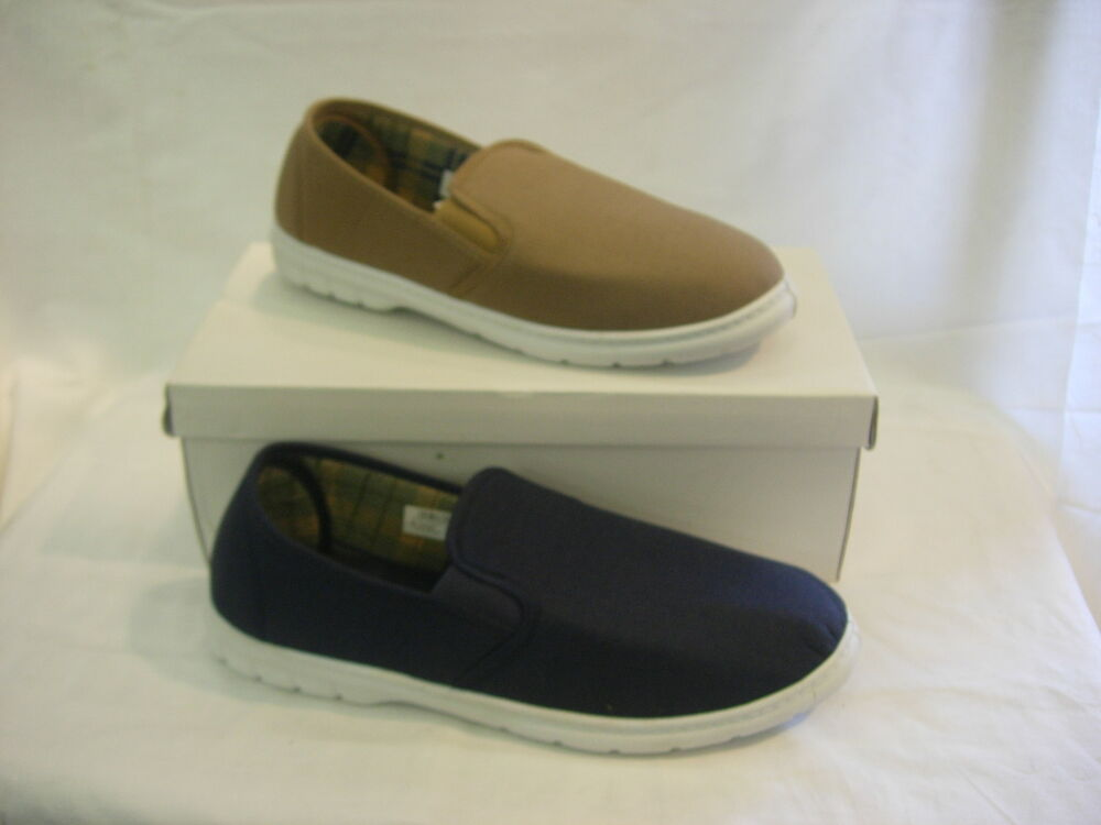 m252 mens light cotton canvas denim casual slip on comfort