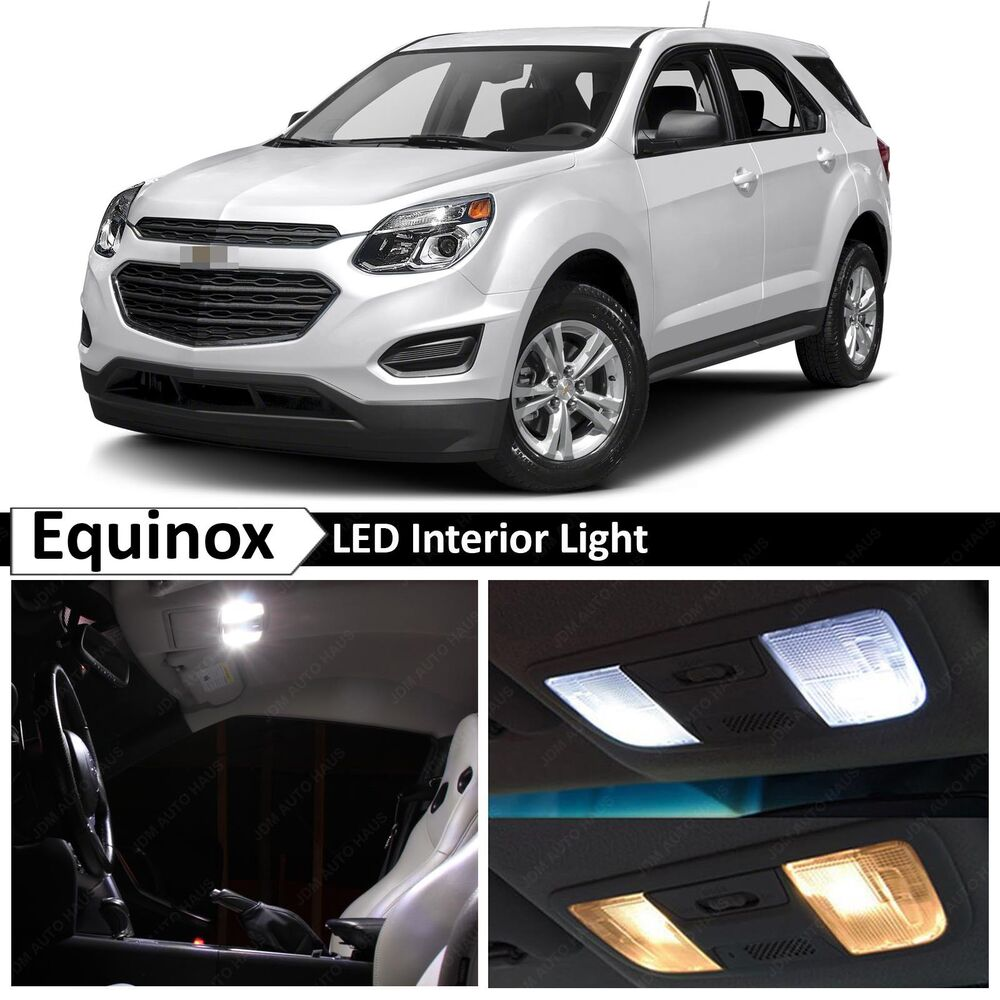 13x white led lights interior package kit for 2010 2016 chevy equinox tool ebay. Black Bedroom Furniture Sets. Home Design Ideas