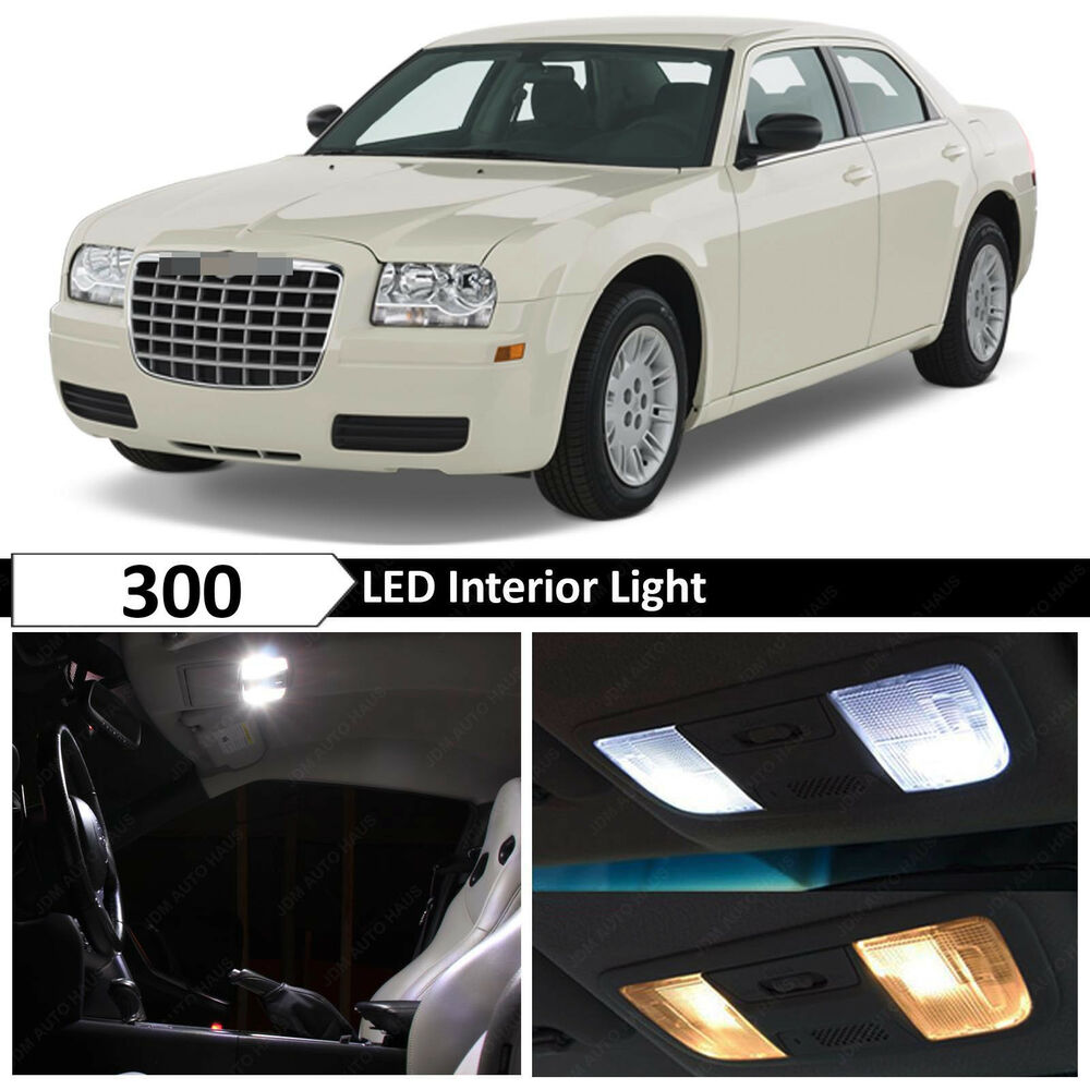 12x White Led Interior Light Package Kit For 2005 2010 Chrysler 300 300c Ebay