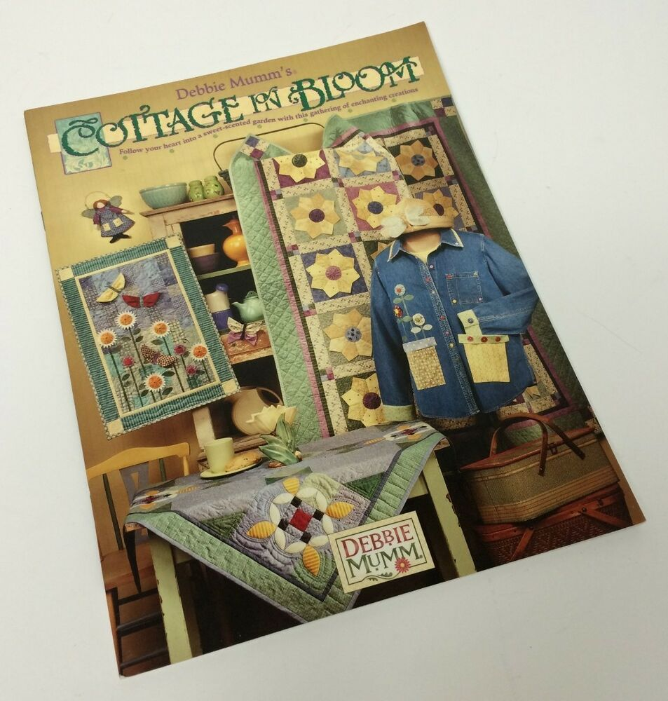 Debbie Mumm Cottage In Bloom Quilting Patterns Design Book Spring Summer Garden eBay