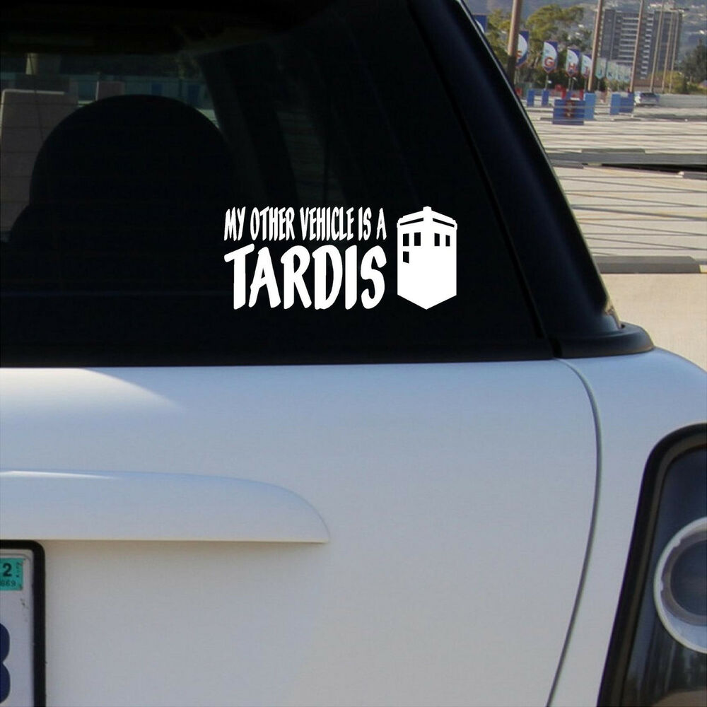 Tardis decal ebay my other vehicle is a tardis vinyl decal car window bumper sticker doctor who amipublicfo Choice Image