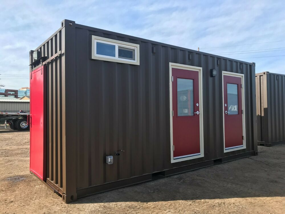 Restroom Shipping Container Conex Portable Bathroom Ebay