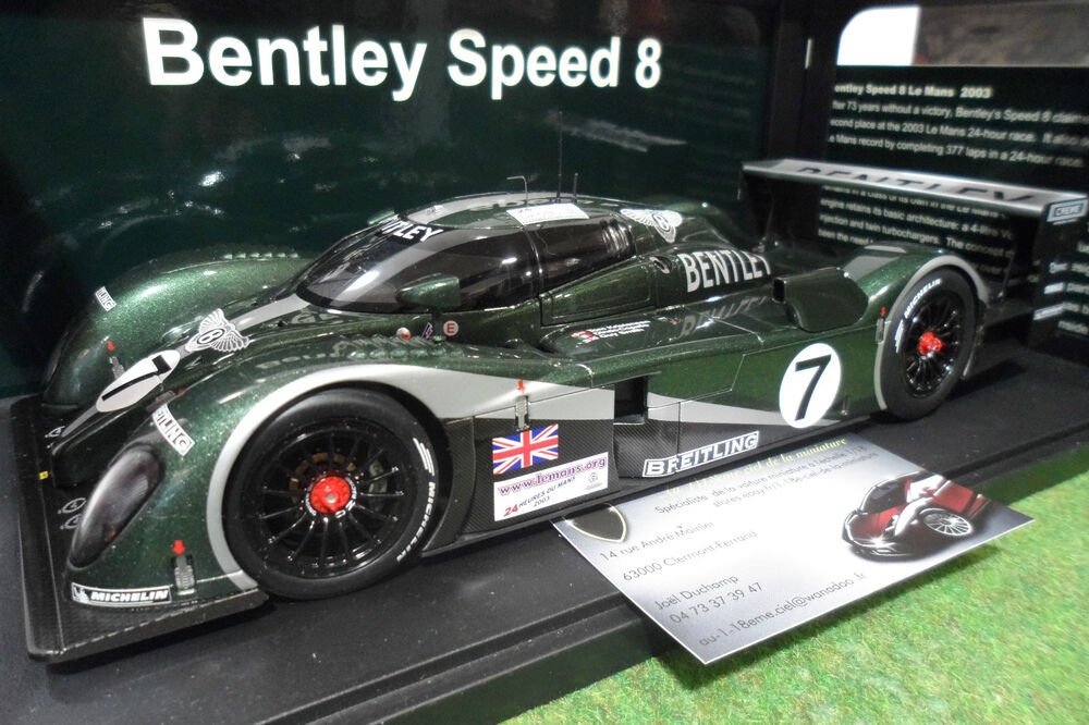 bentley speed 8 7 vert winner le mans 2003 1 18 autoart 80353 voiture miniature ebay. Black Bedroom Furniture Sets. Home Design Ideas