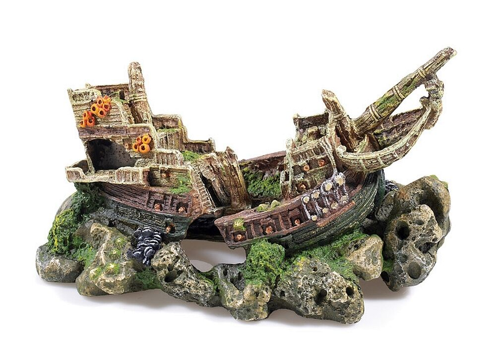Large Galleon Shipwreck on Rock Cave Aquarium Ornament ...