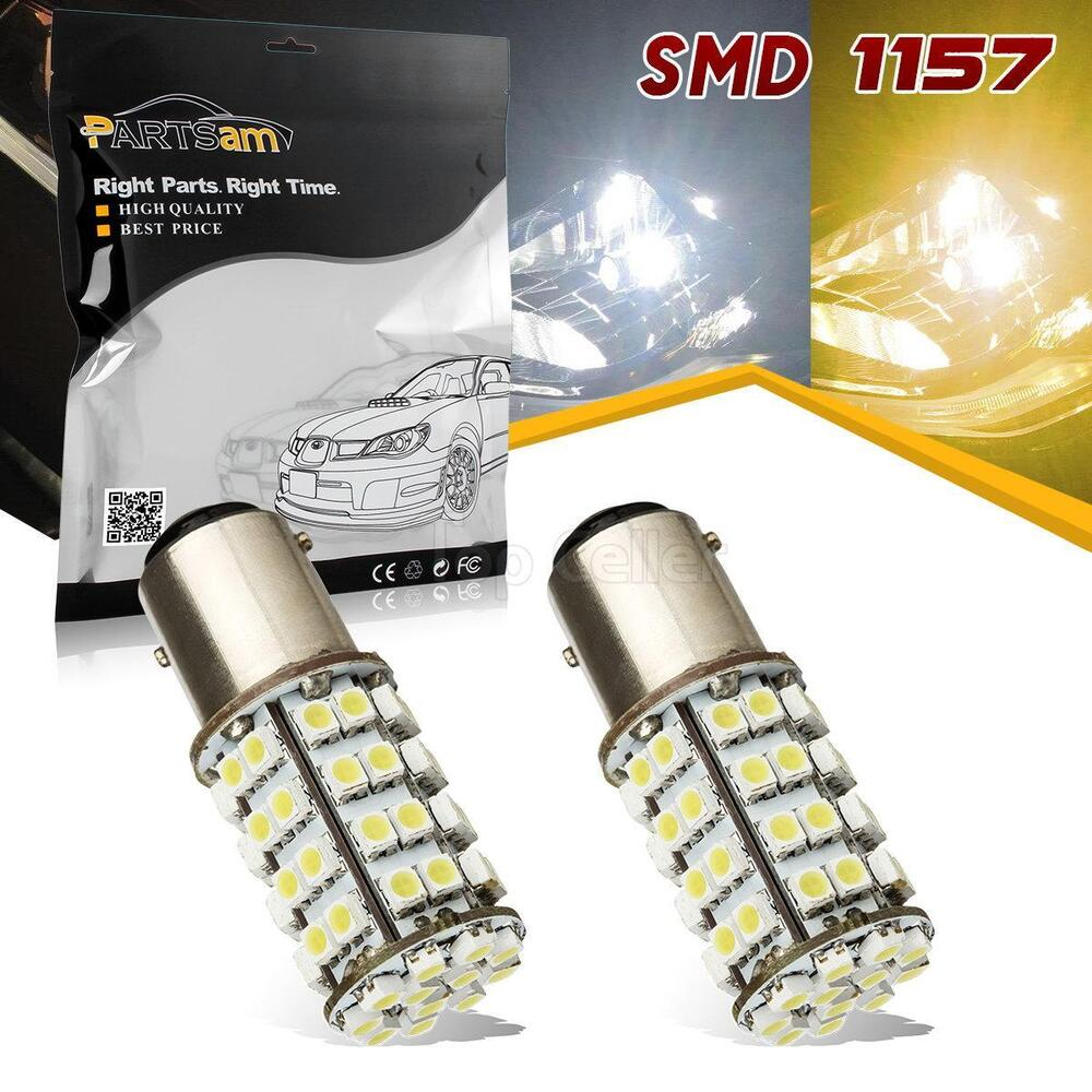Amber White Dual Color Switchback 60 Led 1157 Front Turn