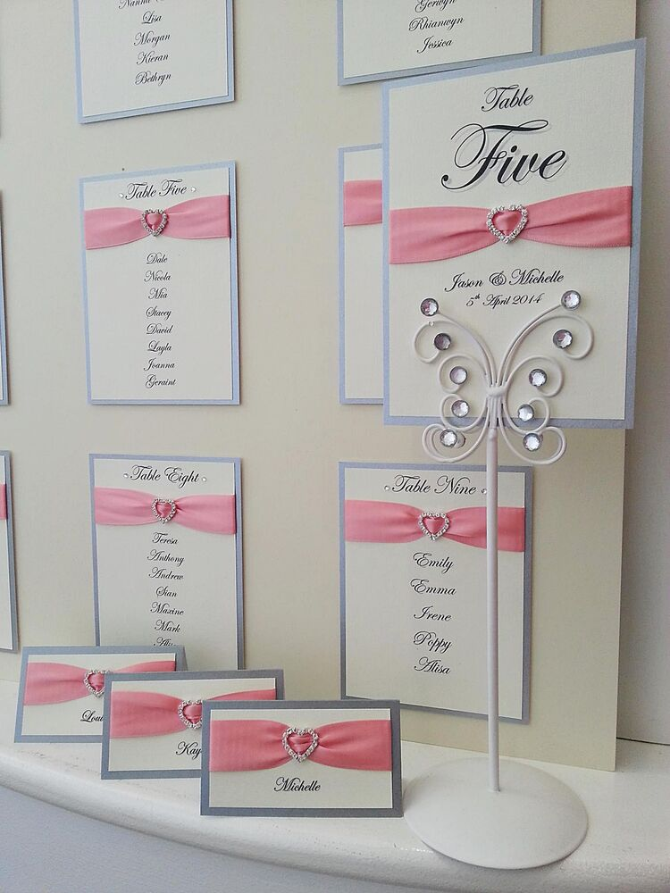 Luxury Handmade Wedding Table Plan, Numbers, Place Names ...