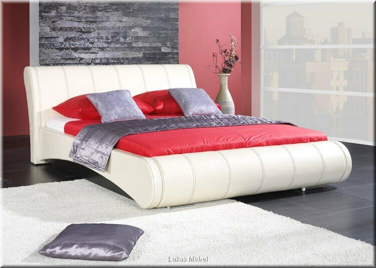 doppelbett mit bettkasten lattenrost farbauswahl designer bett 180x200 cm ebay. Black Bedroom Furniture Sets. Home Design Ideas