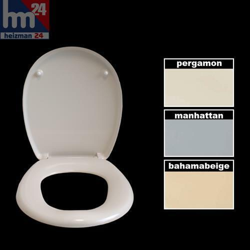 haro wc sitz duroplast mit es scharnieren in pergamon manhattan o bahamabeige ebay. Black Bedroom Furniture Sets. Home Design Ideas