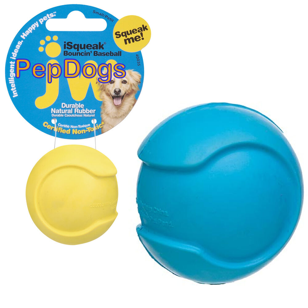 Little Ball Toys : Jw pet isqueak bouncin baseball small quot rubber squeaker