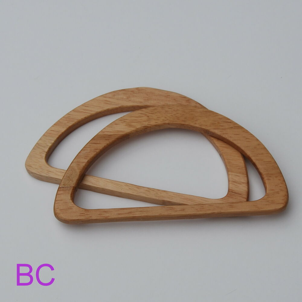 Wood wooden d shaped bag handles ebay for Handles for bags craft