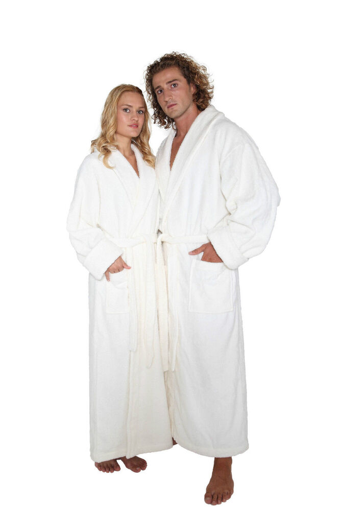 mens organic bathrobe 100 turkish cotton terry cloth robe ebay. Black Bedroom Furniture Sets. Home Design Ideas