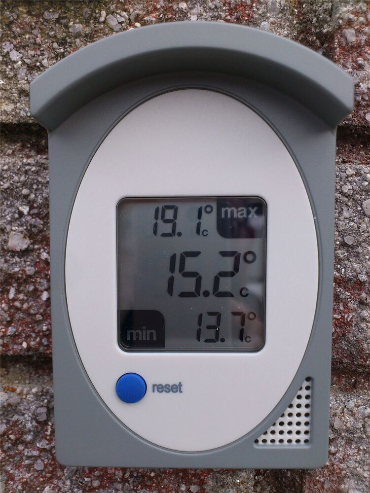 electronic maximum and minimum thermometer for schools ebay. Black Bedroom Furniture Sets. Home Design Ideas