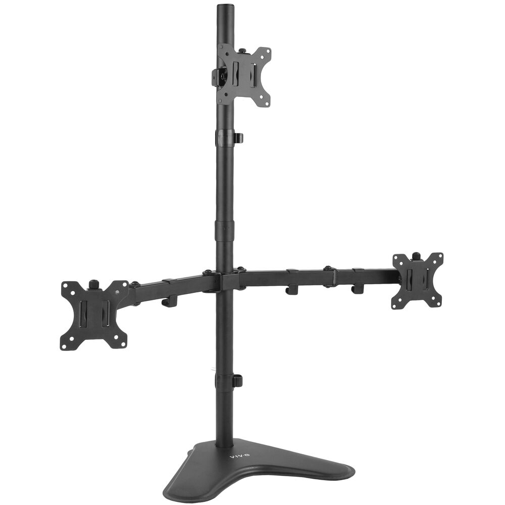 Triple Lcd Monitor Desk Stand Mount Free Standing