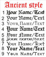 CUSTOM Personalize Your Name Text ANCIENT STYLE decal sticker vinyl wall art AS