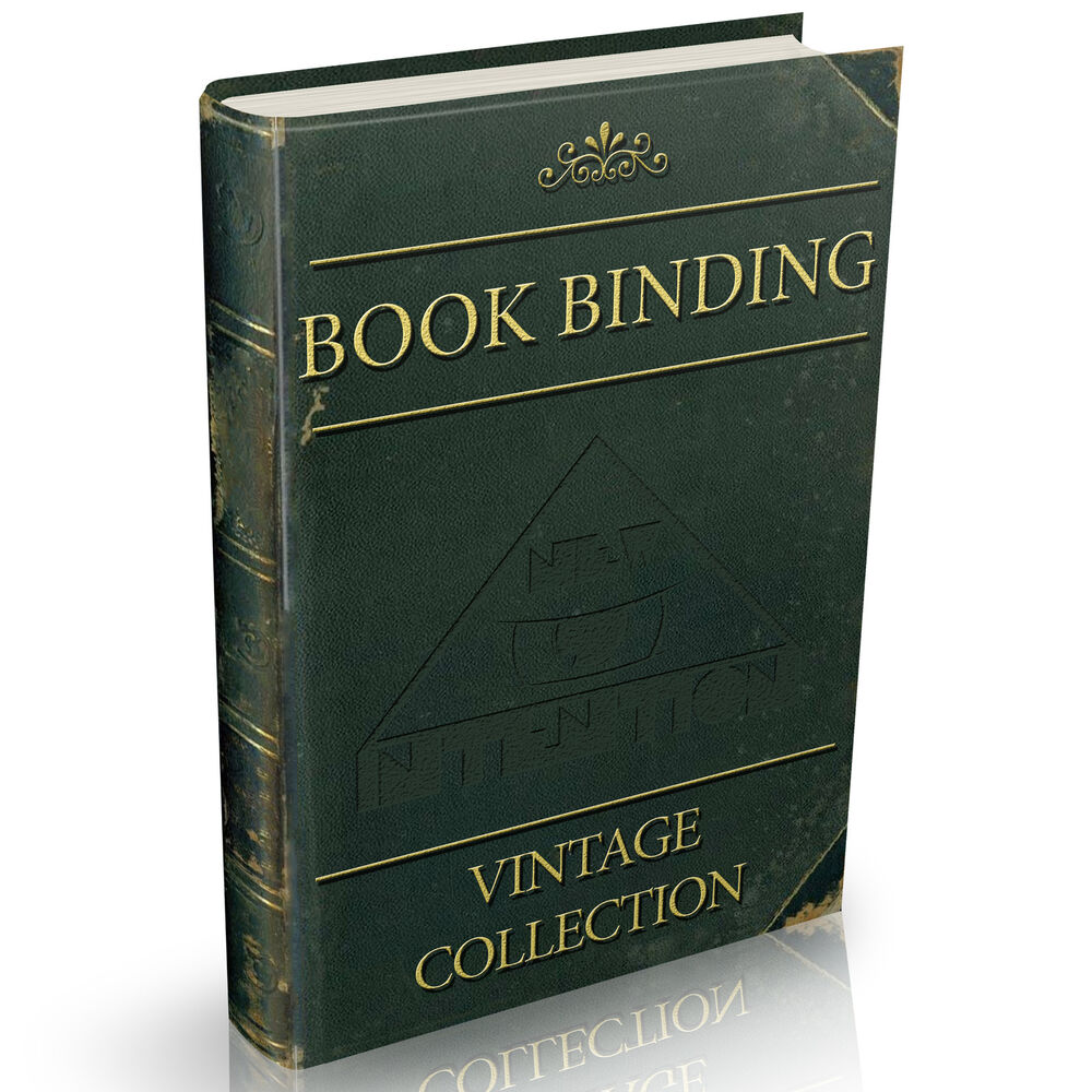 Old Bookbinding Books Collection On DVD Vintage Alum Book