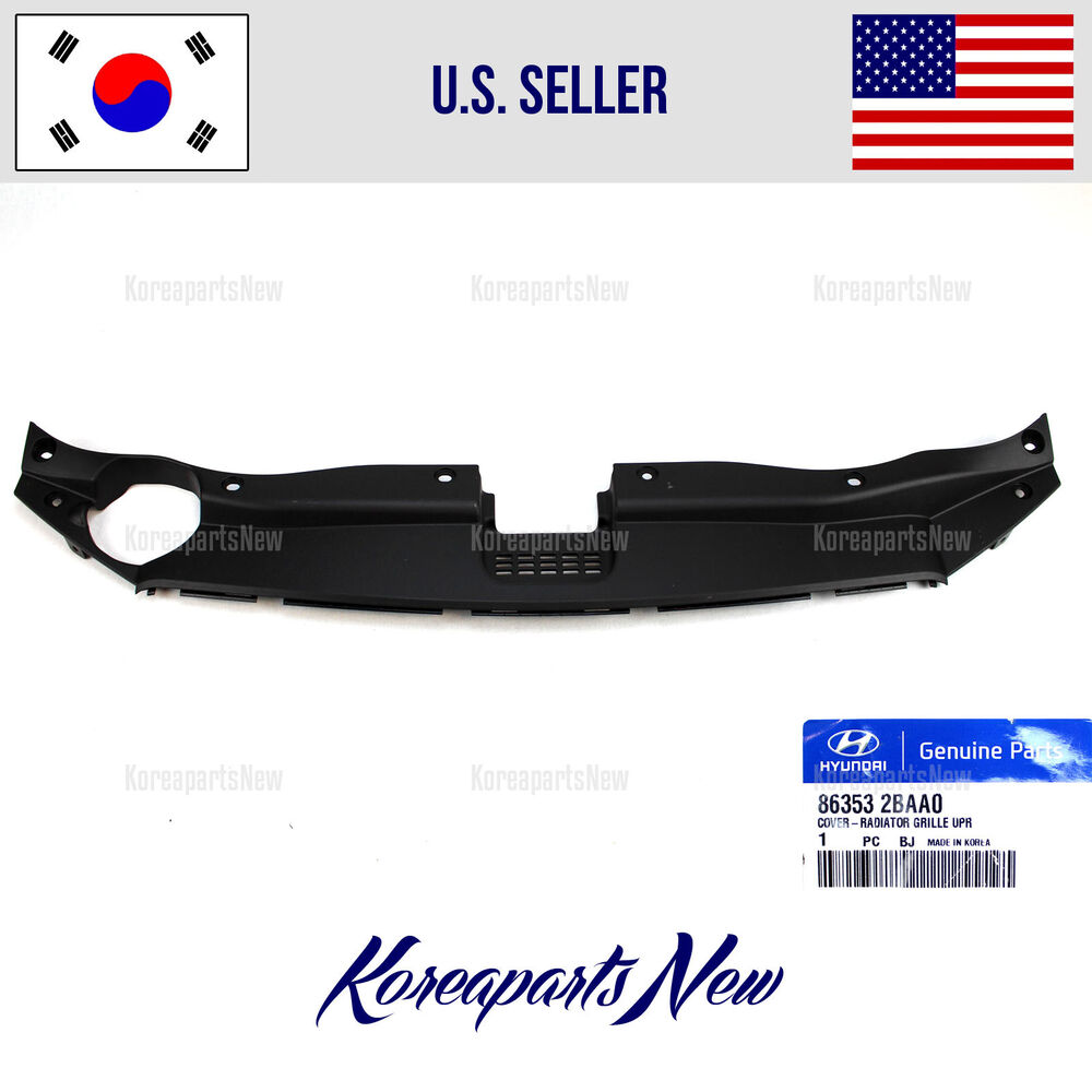 2011 Hyundai Santa Fe Exterior: COVER RADIATOR GRILLE UPPER (SIGHT SHIELD) 863532BAA0