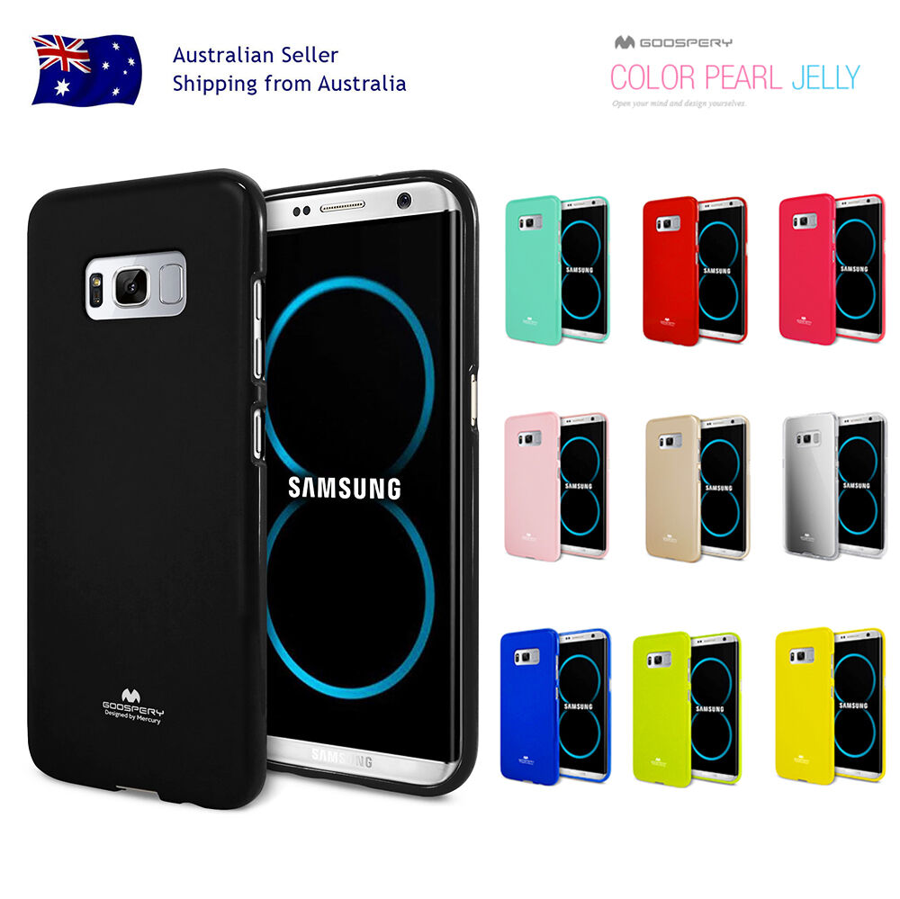 Samsung S9 Plus S8 S7 Edge S6 S5 Mercury Shockproof Rubber Jelly Gel Goospery Pearl Case All Type Special  Blue Cover Ebay