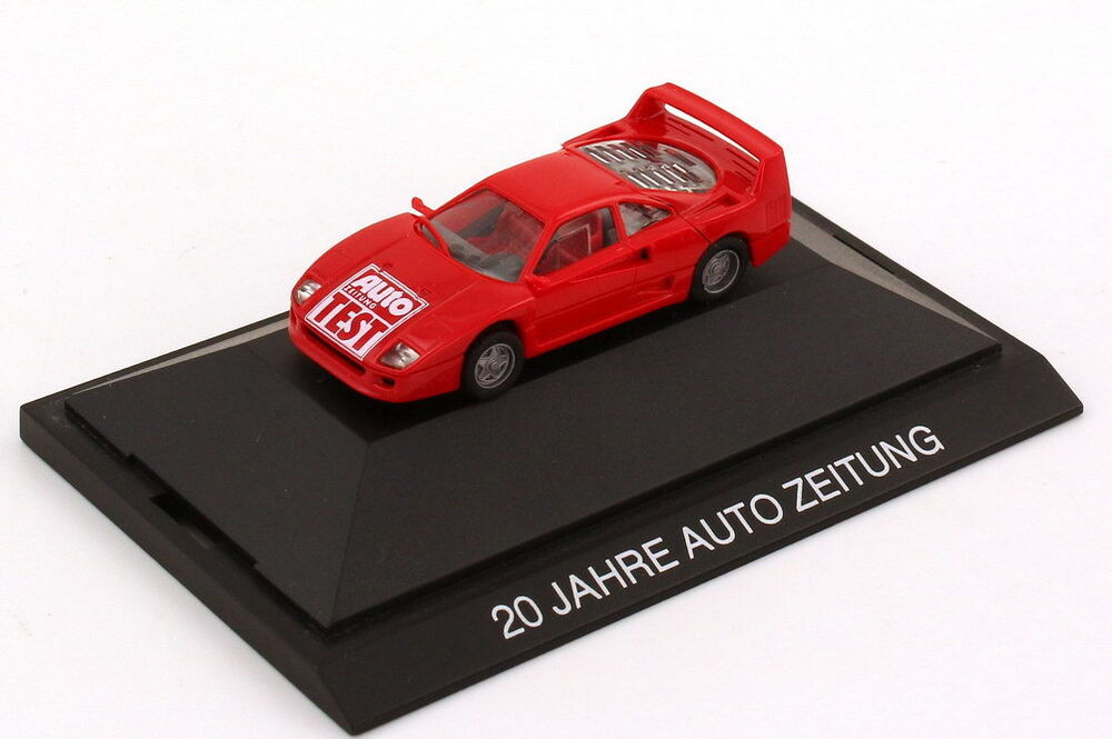 1 87 ferrari f40 rot 20 jahre auto zeitung auto zeitung test ebay. Black Bedroom Furniture Sets. Home Design Ideas