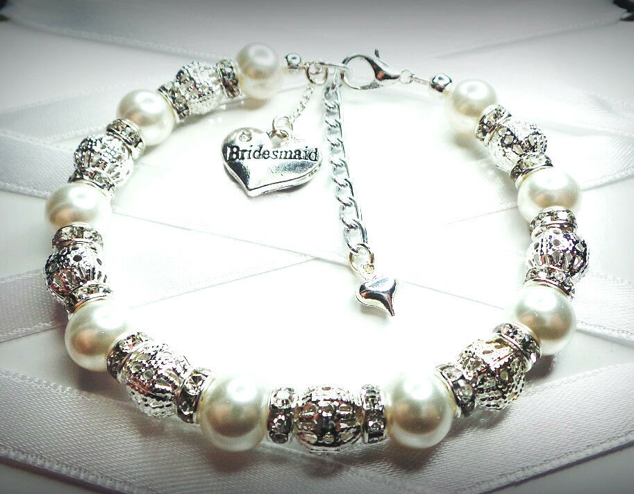 ... bracelet bridesmaid mum niece wedding favour free gift bag eBay