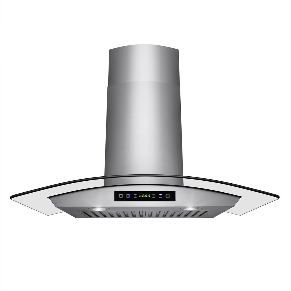 Stainless Steel Stove Hoods ~ Quot stylish wall mount stainless steel glass range hood