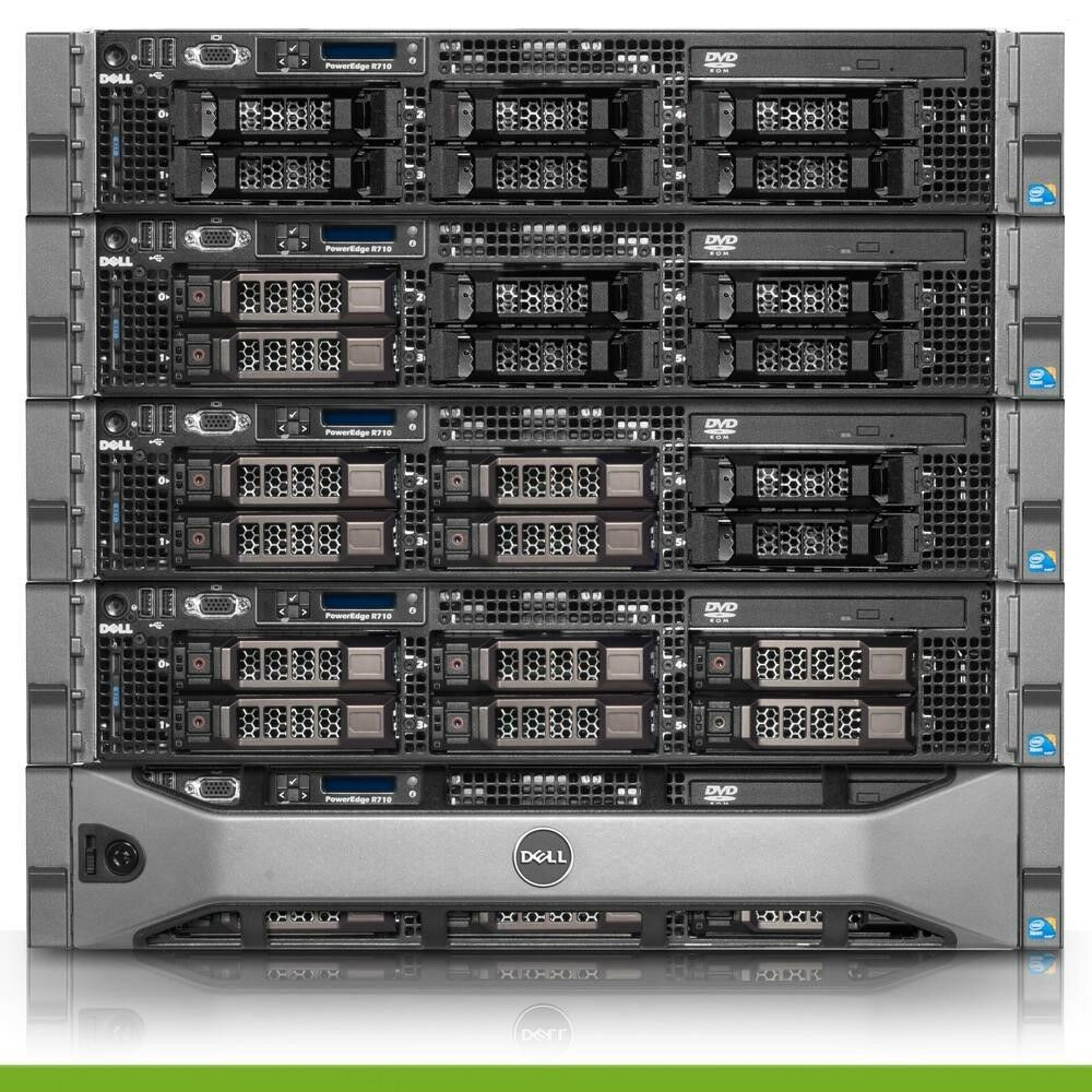 dell poweredge r710 virtualization server 8 core 48gb 4x300gb 15k 1 2tb perc6i ebay. Black Bedroom Furniture Sets. Home Design Ideas