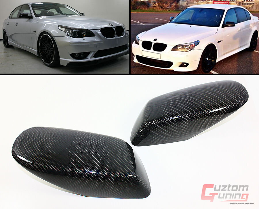 Carbon Fiber Side Mirror Cover Caps Overlay For 2004 2008