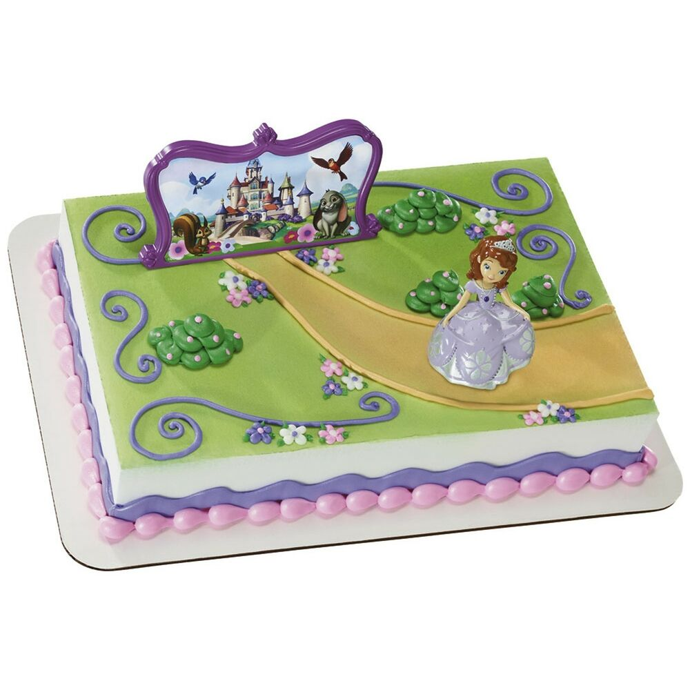 Disney Princess Cake Decoration Kit : Disney Sofia The First Princess Castle, Cake Topper ...