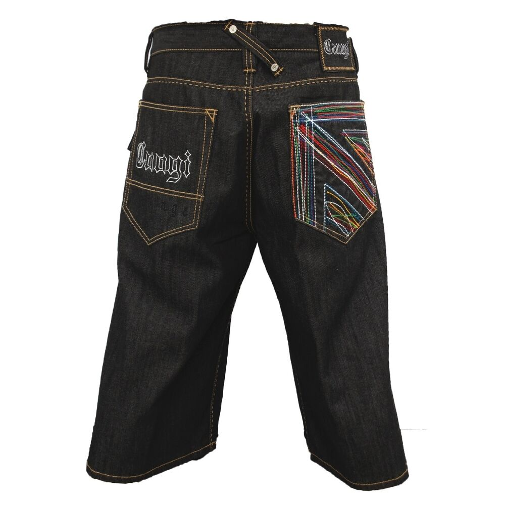 new authentic s coogi black rinse color jean shorts