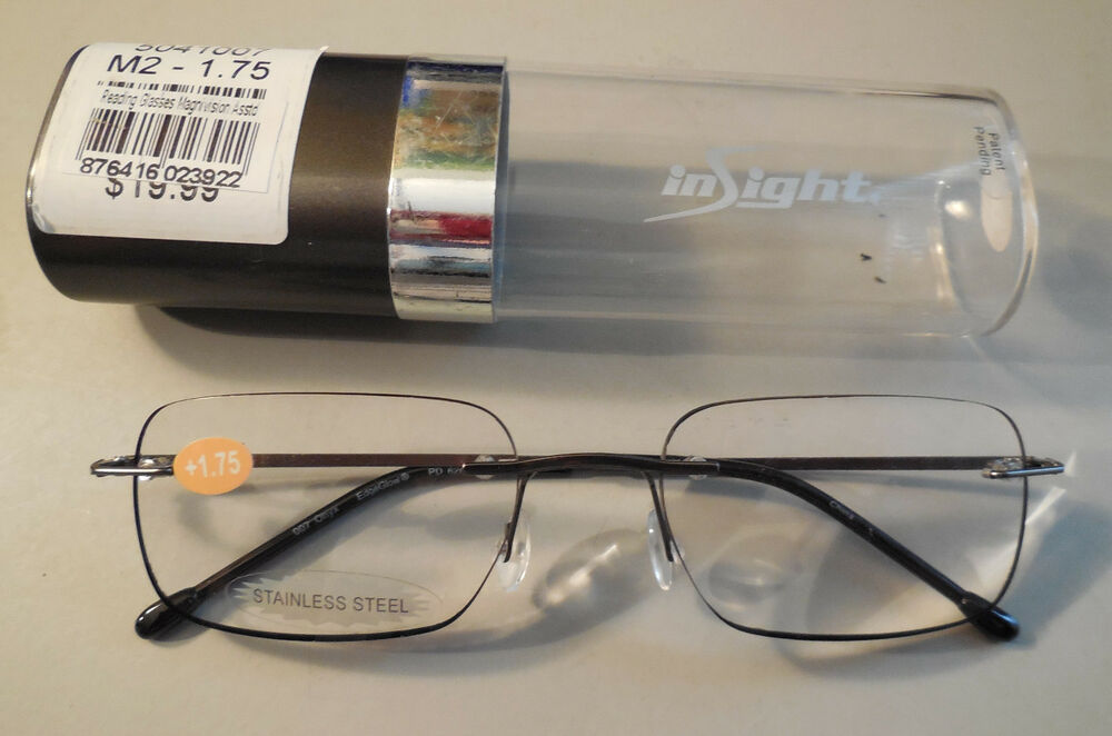 insight compact edgeglow reading glasses in