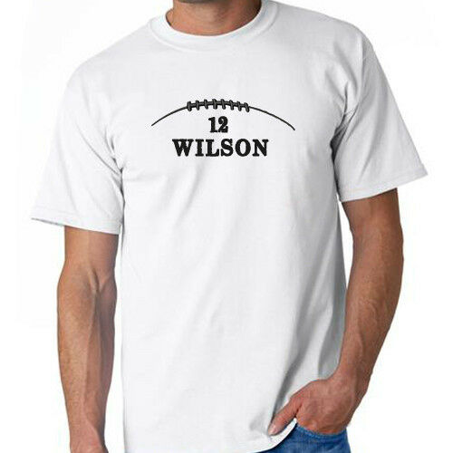 Football custom name number t shirt gameday training for Custom personal trainer shirts
