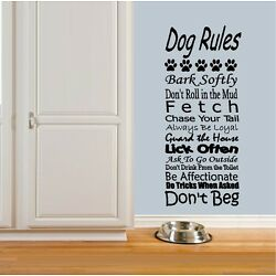 Dog Rules ~ Wall or Window Decal