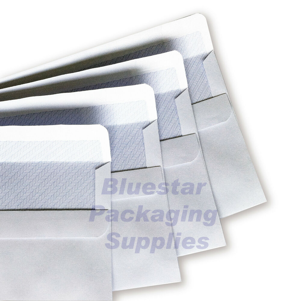 White self seal plain window envelopes dl c6 c5 c4 high for Window envelopes