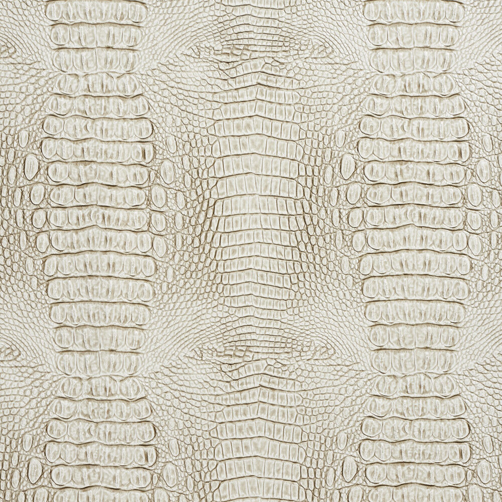G032 White And Gray, Crocodile Faux Leather Upholstery ...