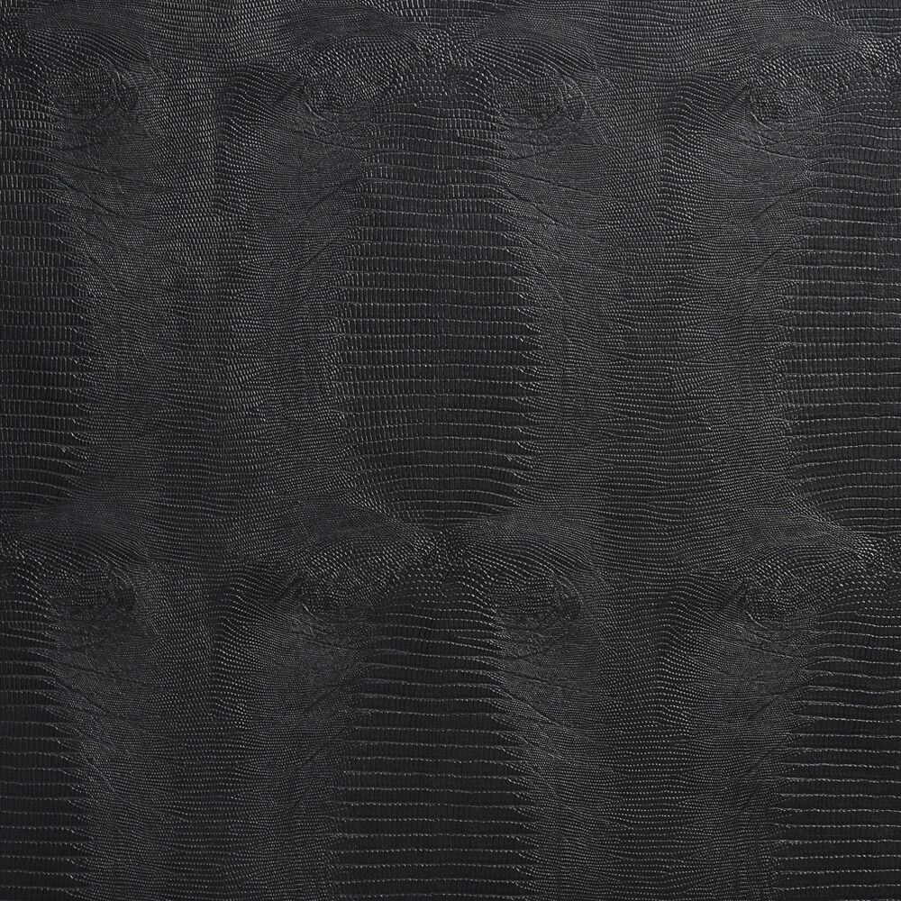 G015 Black Textured Alligator Faux Leather Upholstery
