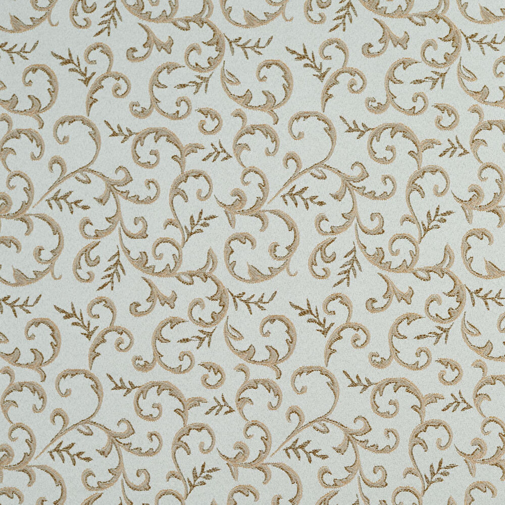 E647 floral blue and gold damask upholstery and drapery for Upholstery fabric