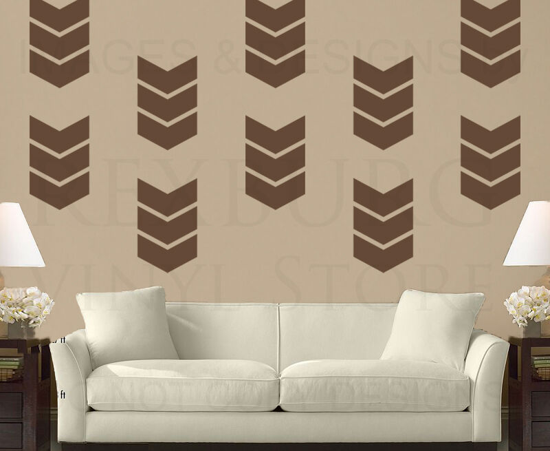 chevron template for walls - chevron pattern geometric wall decal vinyl sticker art