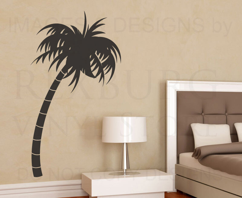 palm tree large wall decal vinyl sticker art decoration decor graphic mural g32 ebay. Black Bedroom Furniture Sets. Home Design Ideas