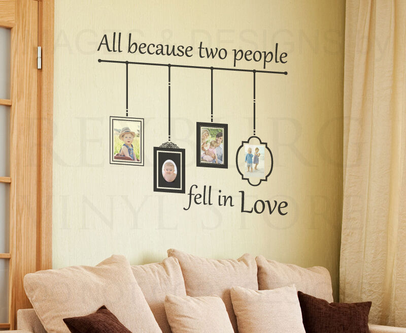 All Because Two People Fell In Love Wall Decal - Elitflat