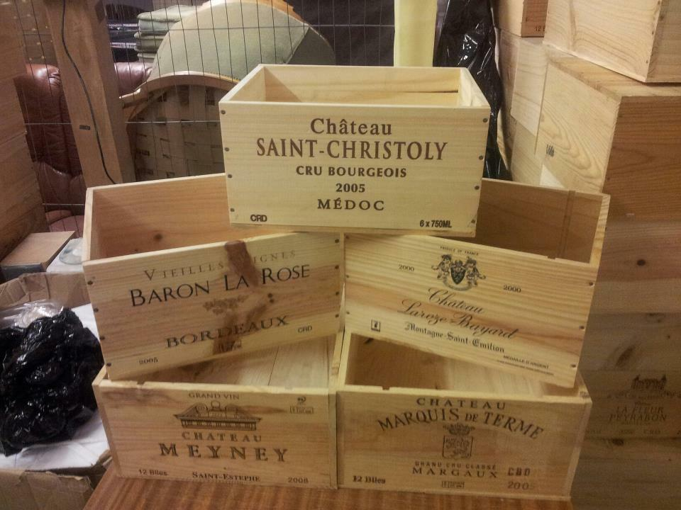 3 x genuine french wooden wine crate box planter What to do with wine crates