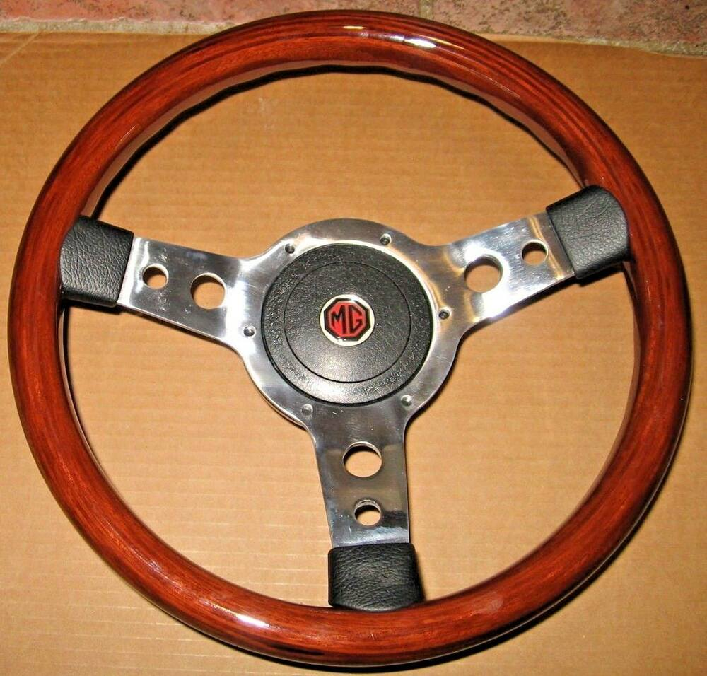 New 13 Quot Wood Steering Wheel And Adaptor For Mgb 1970 1976