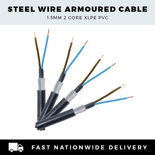 Single Core Cable 9 5mm 2 : Single phase mm core swa cable perfect for garden