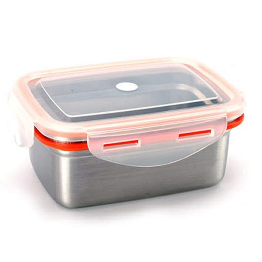 food storage container stenlock stainless steel side lunch box rectangle no 4 ebay. Black Bedroom Furniture Sets. Home Design Ideas