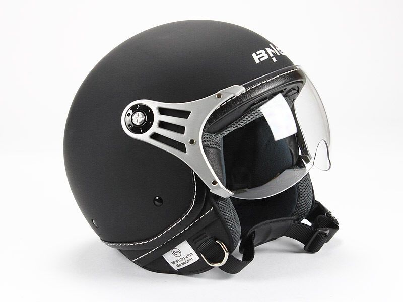 jethelm motorradhelm nostalgie roller helm matt schwarz. Black Bedroom Furniture Sets. Home Design Ideas