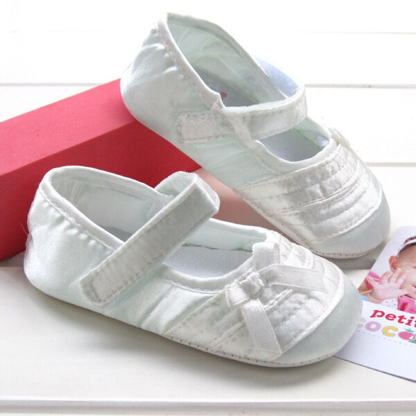 NEW Baby Girl Christening Ivory Cream Mary Janes Shoes 0