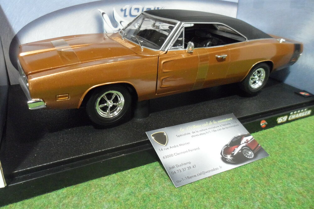 dodge charger r t 1969 marron 1 18 hot wheels 50423 voiture miniature collection ebay. Black Bedroom Furniture Sets. Home Design Ideas