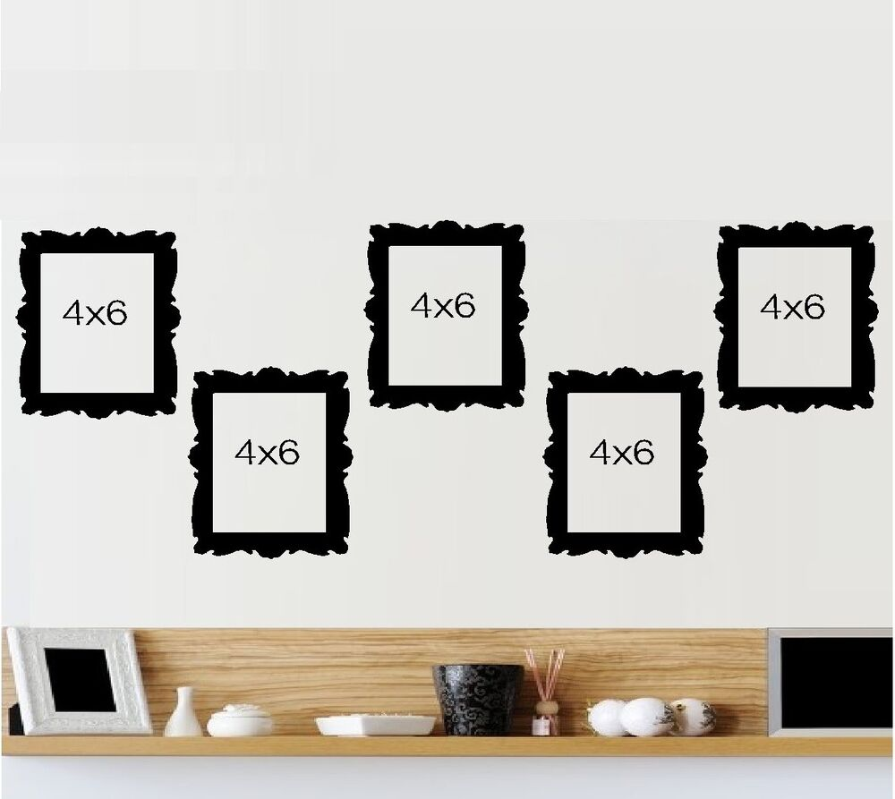 Picture Frames Qty 5 4 Quot X 6 Quot Wall Or Window Decal Ebay